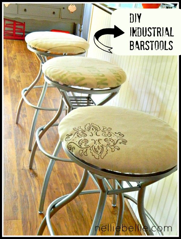 Before/After Industrial Barstools