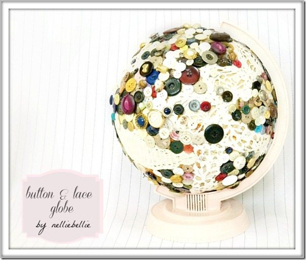 button and lace globe by nelliebellie