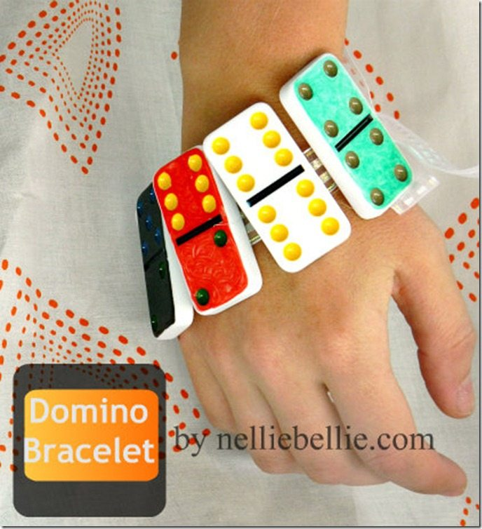 Simple steps to make a Domino Bracelet!