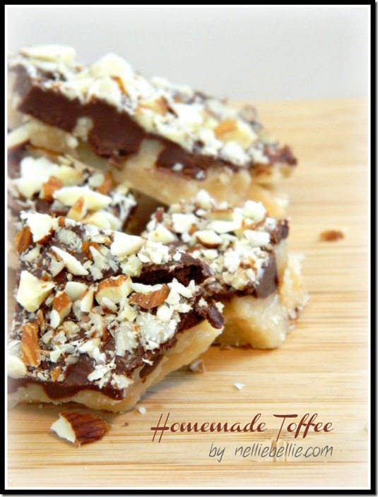 the BEST easy homemade toffee recipe EVER!