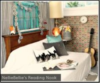 Pallet day bed reading nook