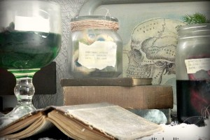 diy specimen jars by NellieBellie