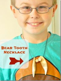 the bear tooth necklace