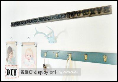 Simple steps to create ABC display art