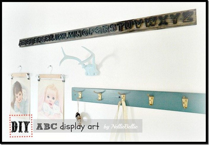 NellieBellie: DIY display art with dollar store ABC's and wood. So cool!
