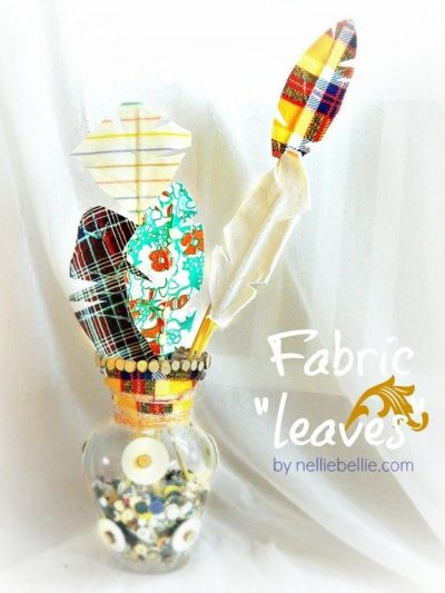 How to make fabric leaves!