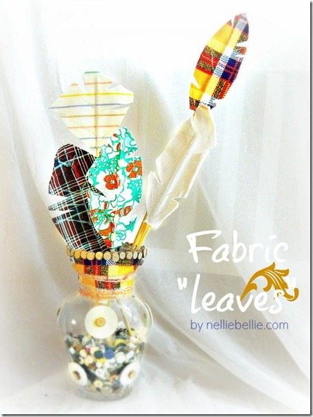 NellieBellie: fabric leaves tutorial