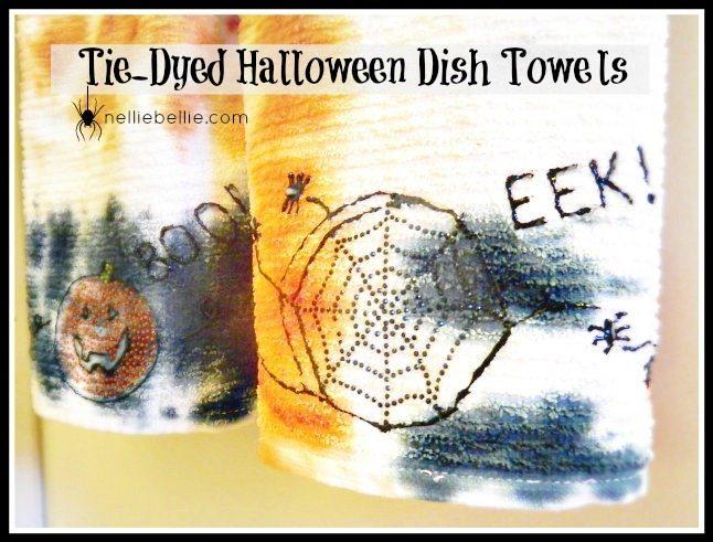 Boo…Tie-dye Halloween Towels…you!
