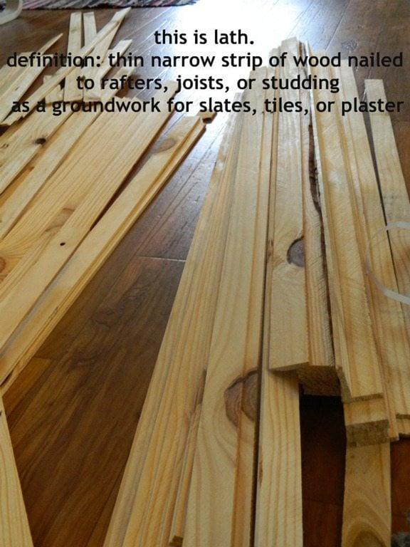 Cheap flooring idea lath floor tutorial for Cheap hardwood flooring ideas