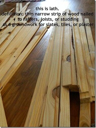 NellieBellie: diy lath floor tutorial. a fabulous cheap flooring idea!