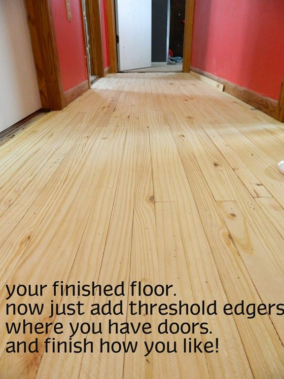 cheap flooring idea lath floor tutorial