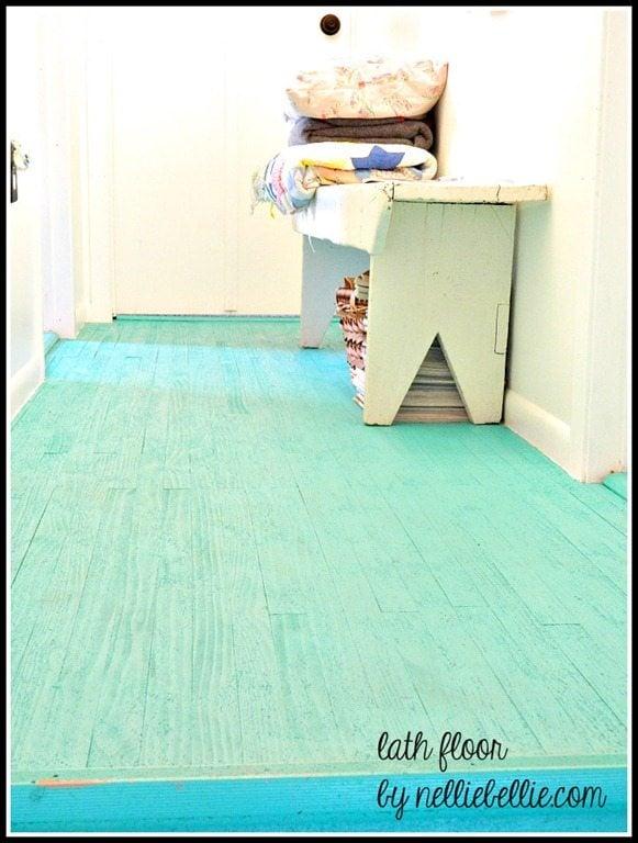 Cheap Flooring Idea: lath floor
