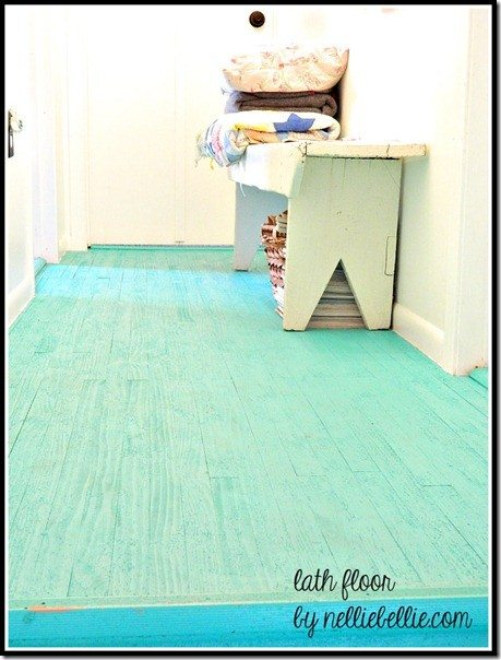 DIY Lath Aqua floors