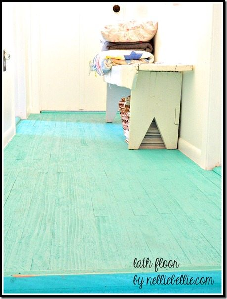 NellieBellie: beautiful floor made from lath!