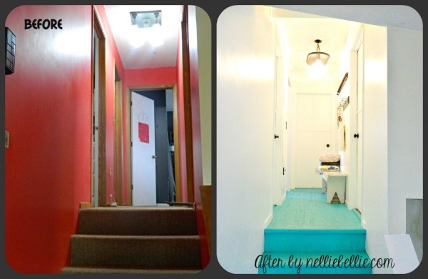 eclectic hallway makeover by NellieBellie