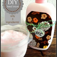 Homemade hand lotion with only 3 ingredients