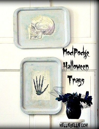 Modpodged halloween tray from NellieBellie #halloween #decoration