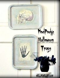 Easy Halloween trays with ModPodge