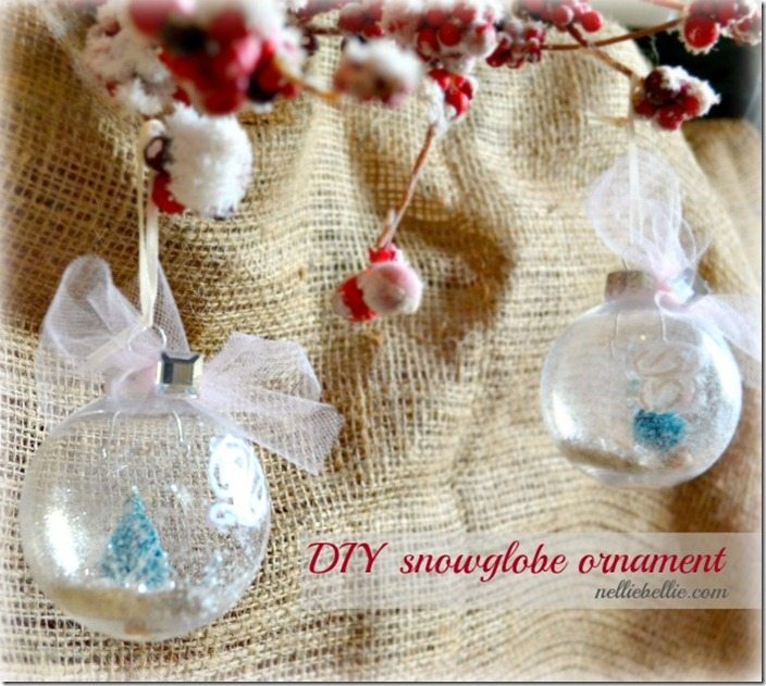 DIY snowglobe ornament: by NellieBellie