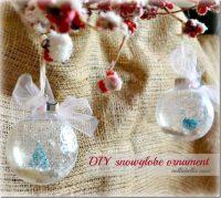 How to make a snowglobe ornament