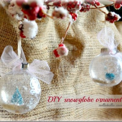 How to make a snowglobe ornament