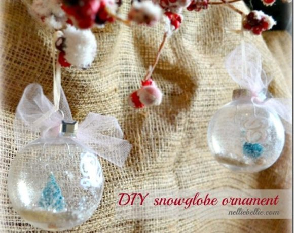 This snow globe ornament is a simple craft/diy that will make a huge difference in your Christmas decorating. It is a fun ornament for a tree or just around the house!