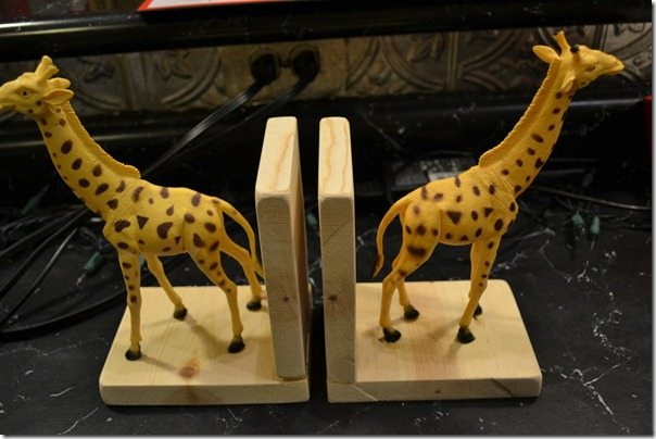 step 3 to gilded animal bookends