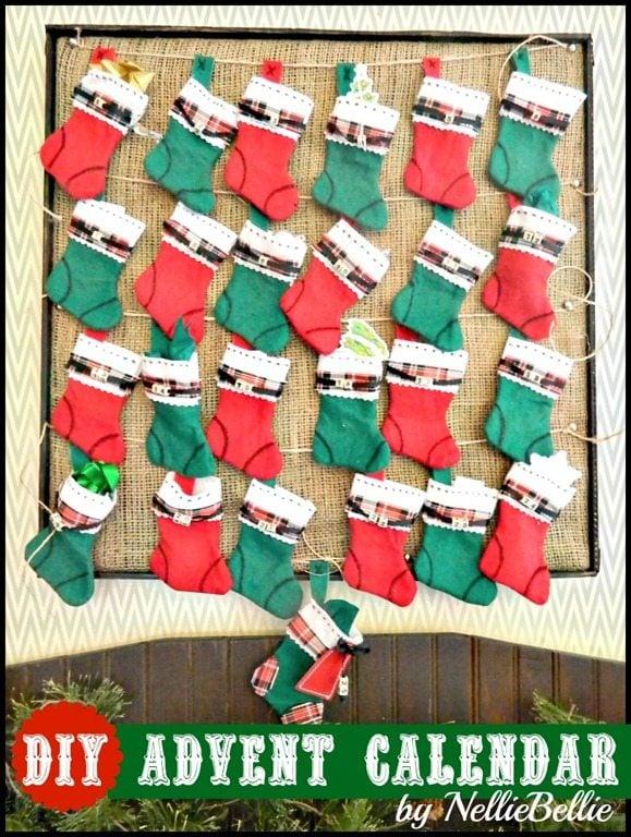 Diy Calendar Easy : Diy advent calendar for christmas a tutorial from