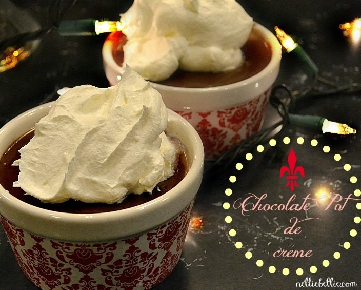 Chocolate Pot De Creme from nelliebellie.com