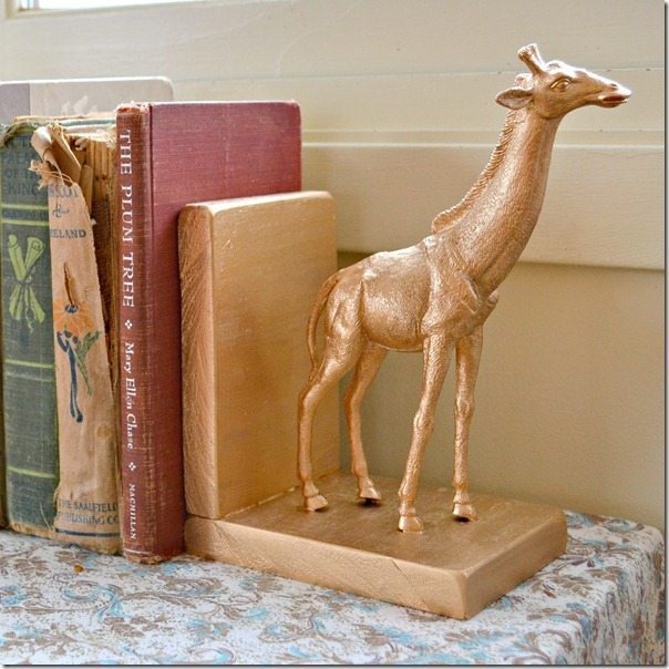NellieBellie: quick & easy gilded animal bookends. a tutorial.