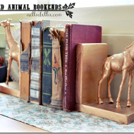 gilded animal bookends.