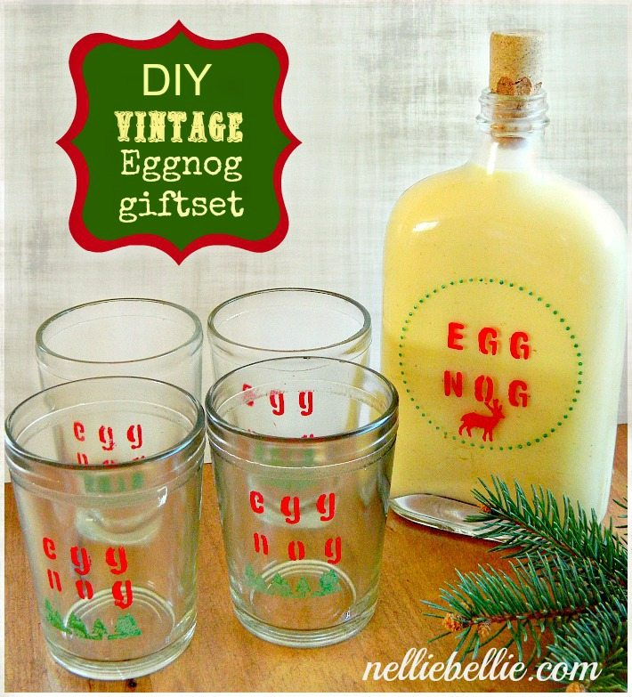 NellieBellie: DIY vintage eggnog giftset.  This gift set is a great idea for a number of different people!