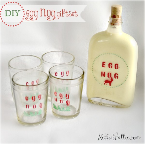 DIY eggnog gift set. a tutorial by NellieBellie