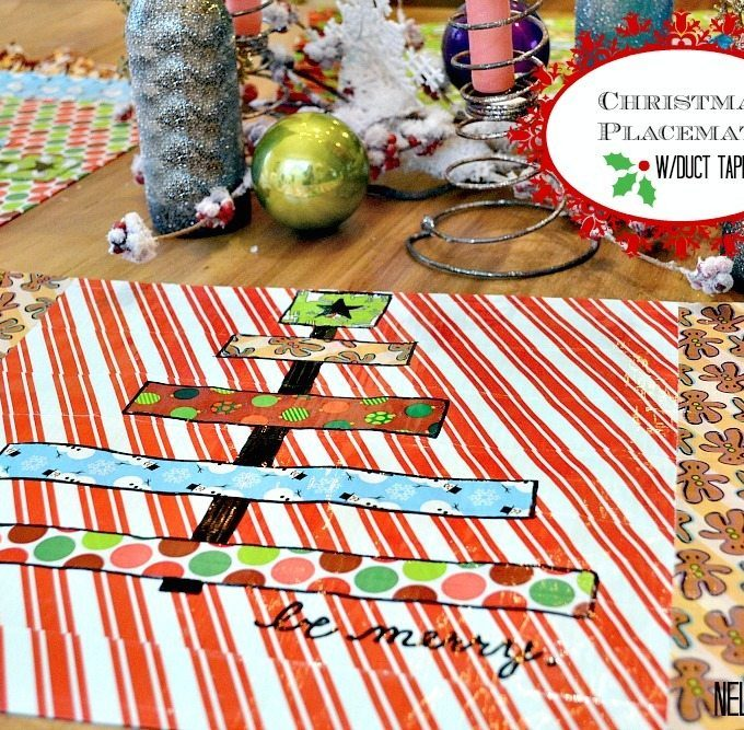 These duct tape placemats are simple to make and a ton of fun for Christmas time!
