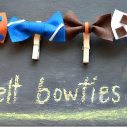 Felt bow ties easy tutorial, from nelliebellie.com