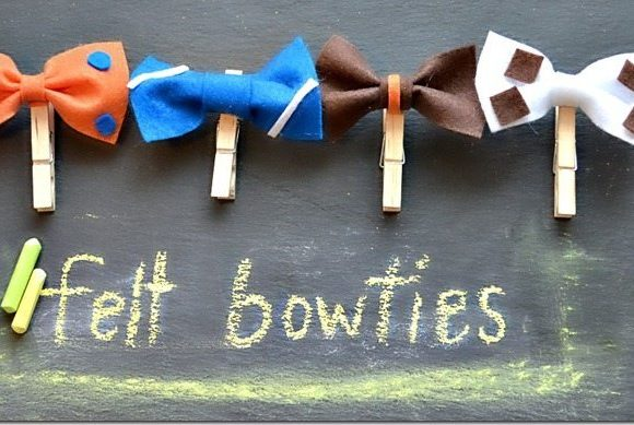 Felt bow ties easy tutorial, from nelliebellie.com