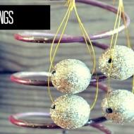 Simple steps to make glitter ball earrings