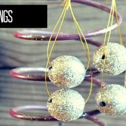 glitter ball earring feature