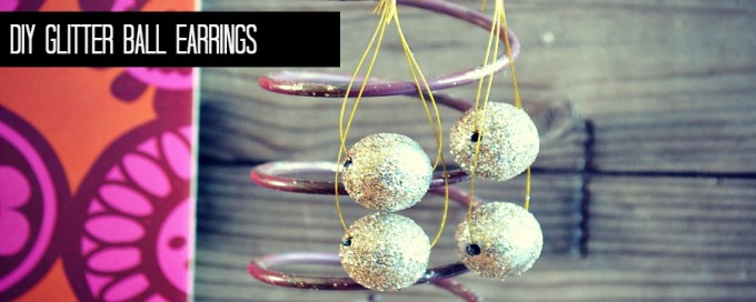 glitter ball earring feature