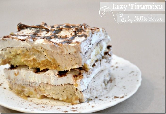 Easy tiramisu that is no bake, fast, and perfect for soneone that has never made tiramisu before!