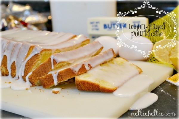 NellieBellie: lemon glazed pound cake
