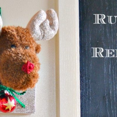 Simple steps to make a Rudolph the reindeer mount
