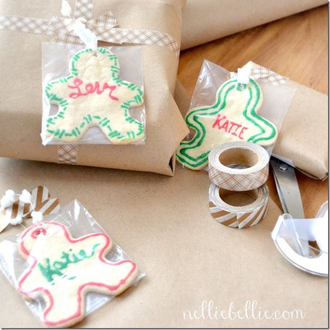 Sugar cookie gift tags | tutorial #Christmas #craft #gifttag