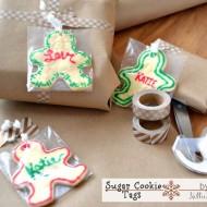 Sugar cookies make great gift tags!