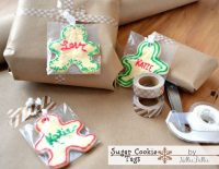 how to make sugar cookie gift tags