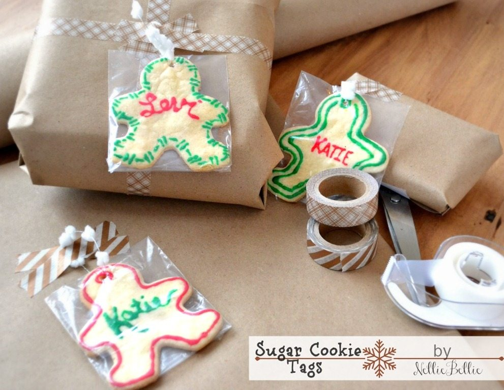 Sugar cookies gift tags