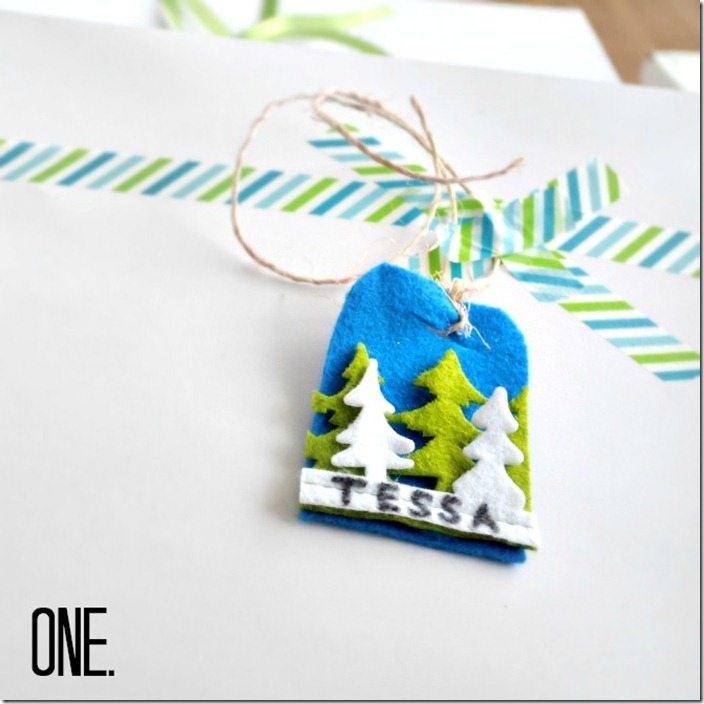 felt gift tag: NellieBellie
