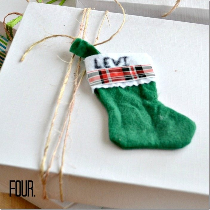 mini stocking gift tag: NellieBellie