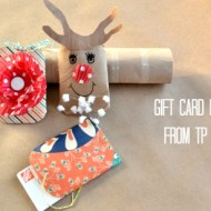 How to make a toilet paper gift card holder
