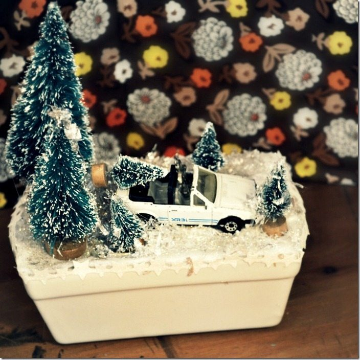 DIY winterscene by NellieBellie. Bring a bit of Wisconsin into your home!
